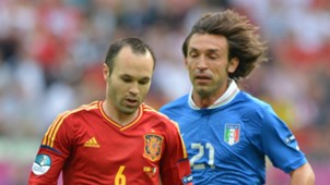 Andres Iniesta Andrea Pirlo