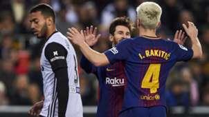 FC Barcelona Messi Rakitic 08022018