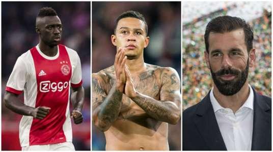 Davinson Sanchez, Memphis Depay, Ruud van Nistelrooy collage