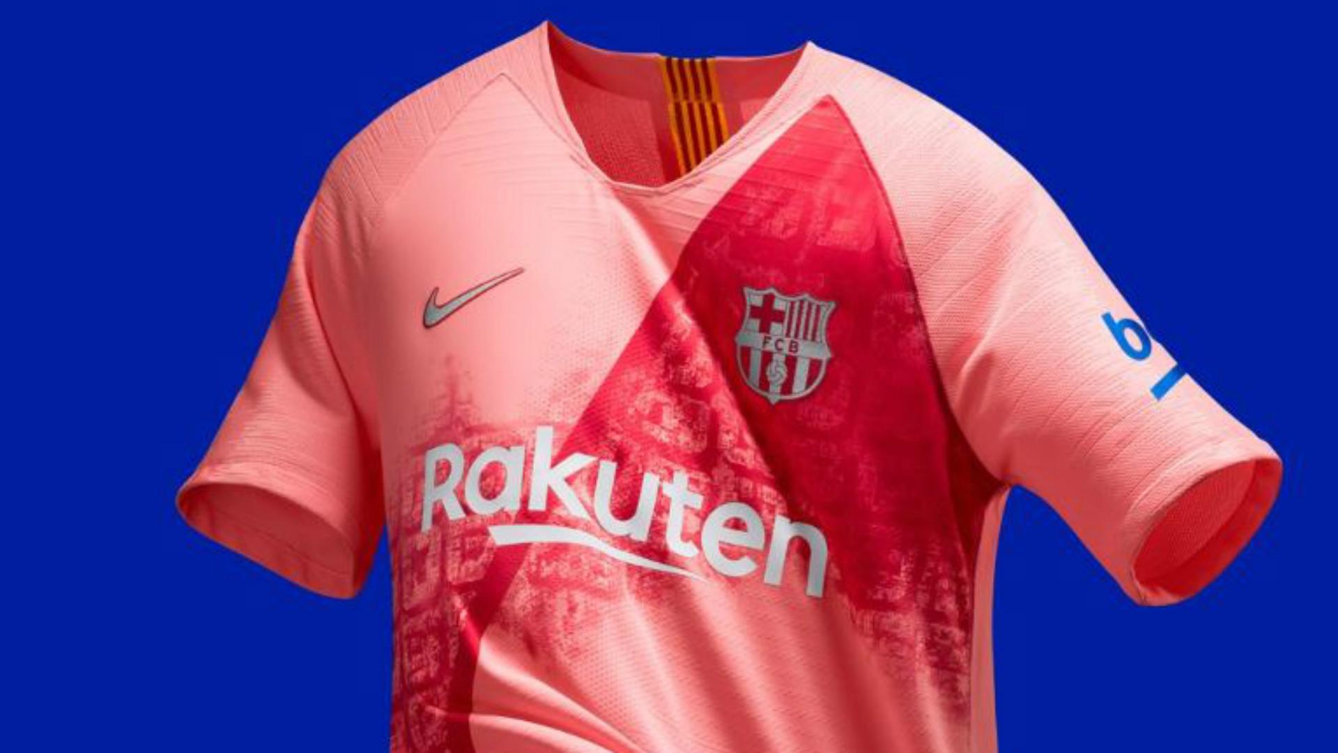 Barcelona news  Barca unveil new pink third kit  9ff6ad028