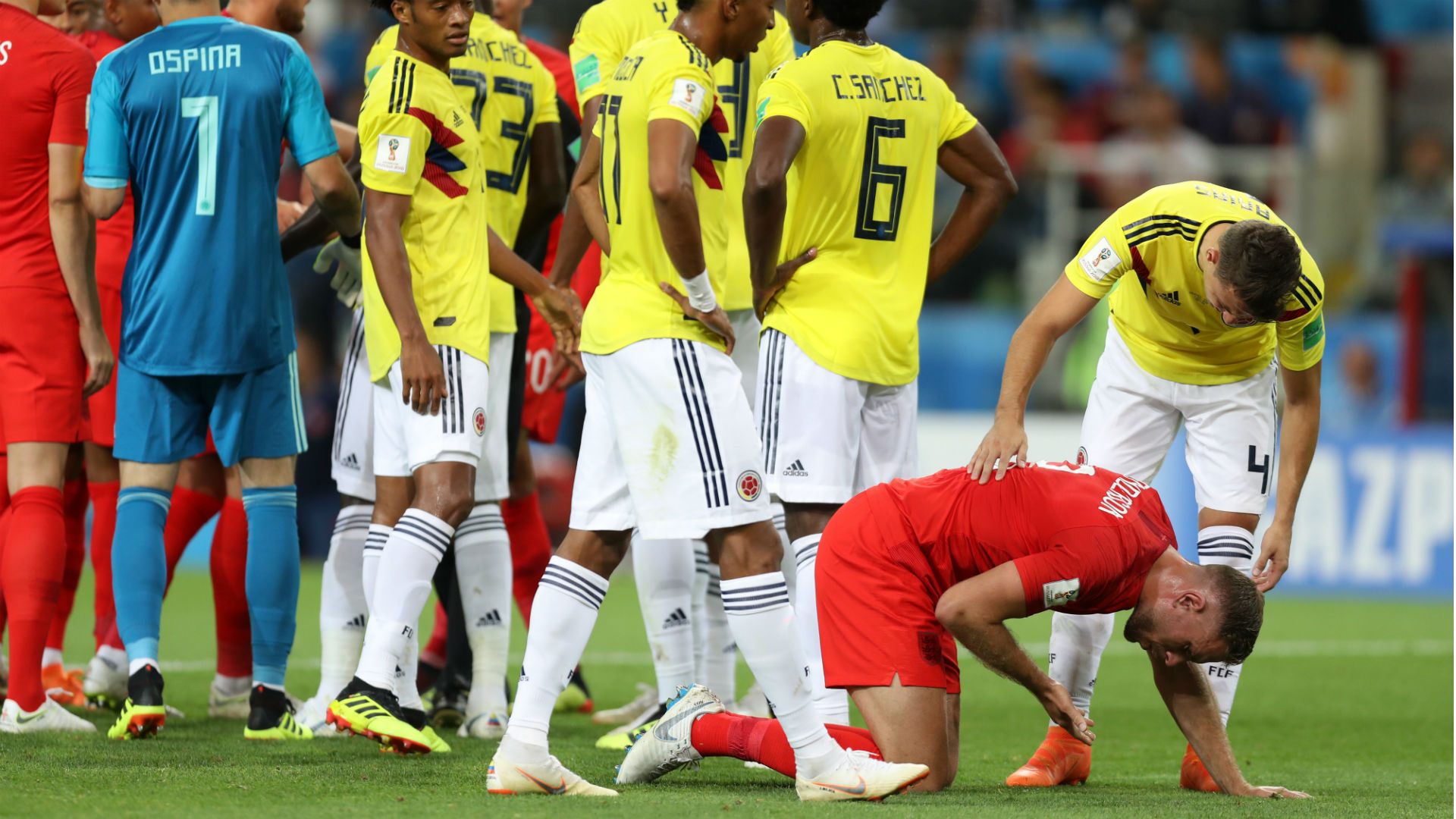 England eliminates Colombia on penalty kicks