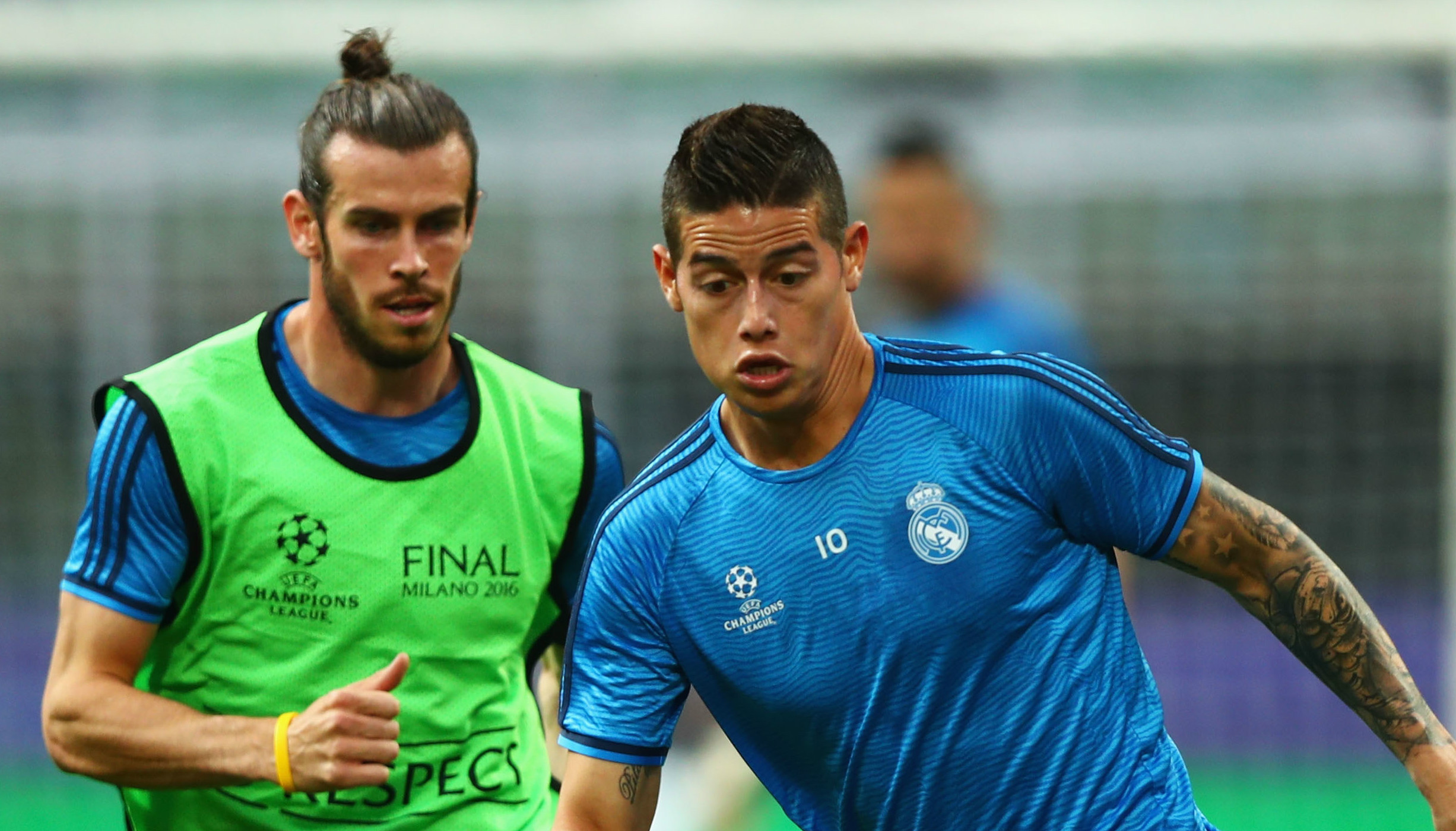 Gareth Bale James Rodriguez Real Madrid