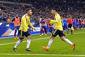 James Rodríguez & Radamel Falcao Colombia gol 2018
