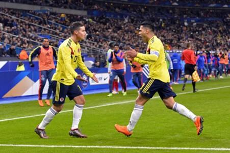 James Rodríguez & Radamel Falcao Colombia gol 2018