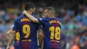 Luis Suarez Jordi Alba Barcelona Valencia LaLiga