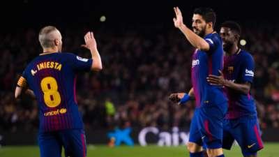 Luis Suarez Andres Iniesta Barcelona Espanyol Copa del Rey 25012018