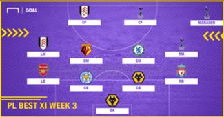 Best XI : ทีมยอดเยี่ยมพรีเมียร์ลีก 2018-2019 สัปดาห์ที่ 3