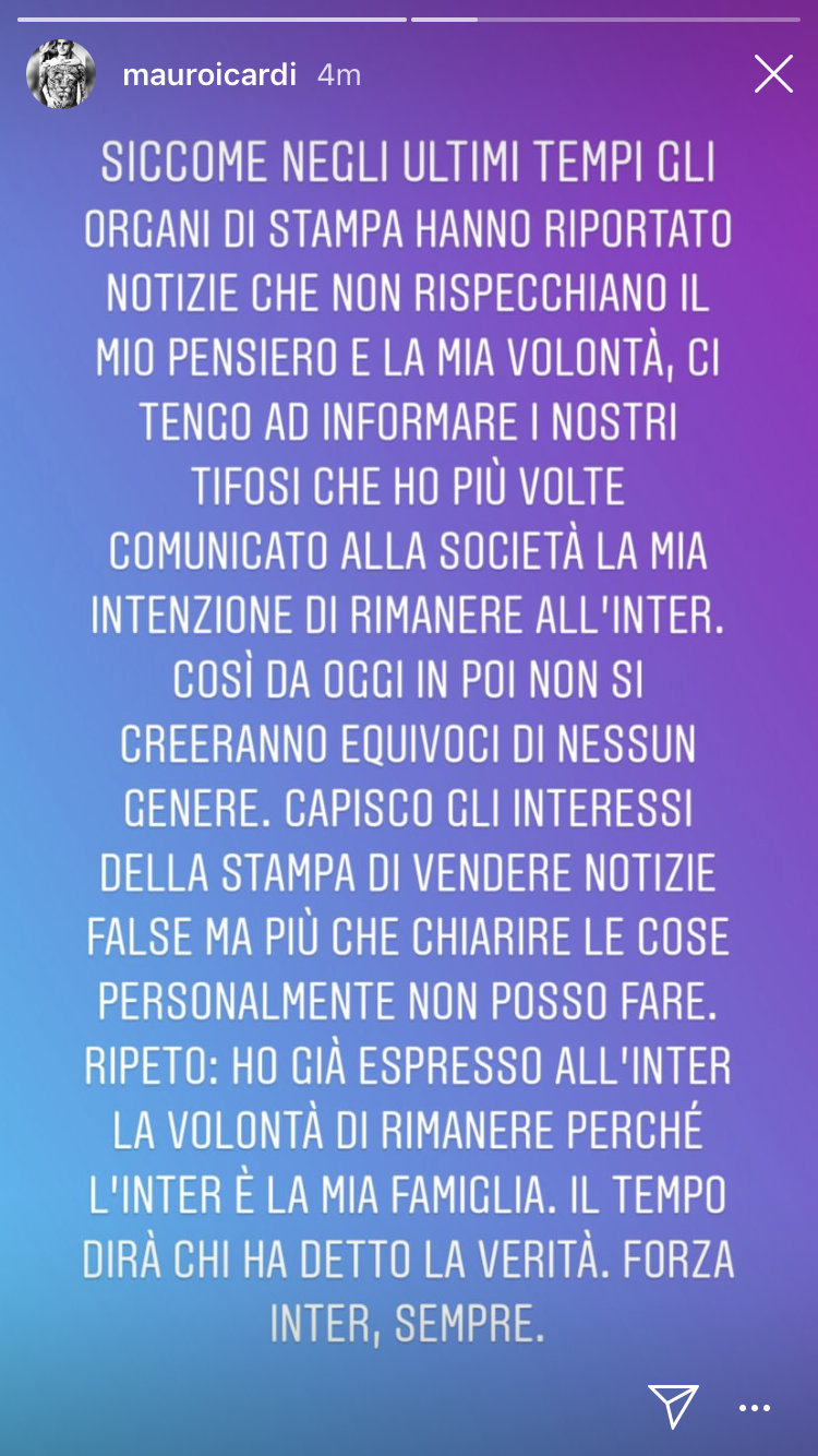 Icardi Instagram
