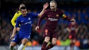 Iniesta Pedro Hazard Rakitic Paulinho Messi Pedro Kante Chelsea Barcelona Champions League