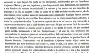 Carta Alfaro Huracan Boca 211218