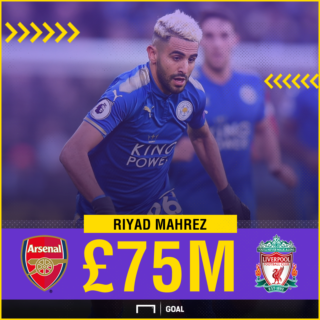 Report: Mahrez prefers Arsenal move over Liverpool