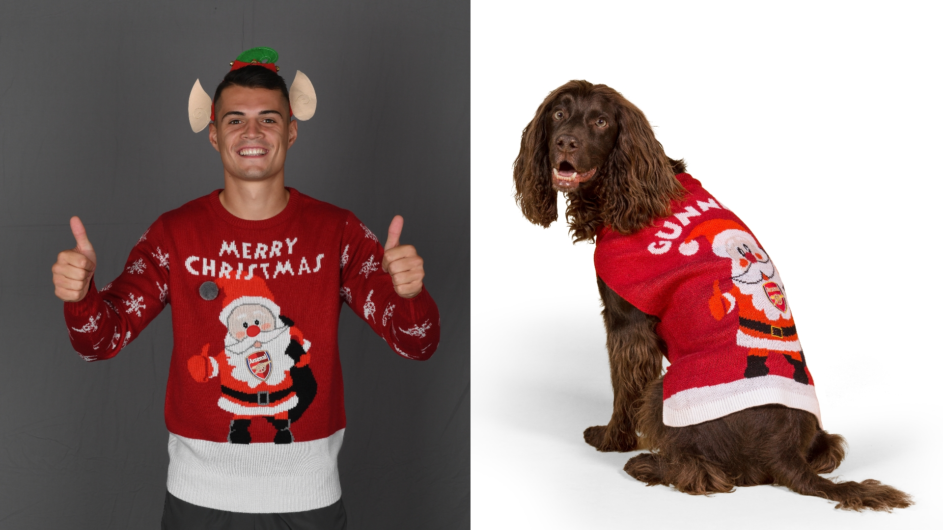 Xhaka, Pooch, Christmas Jumpers