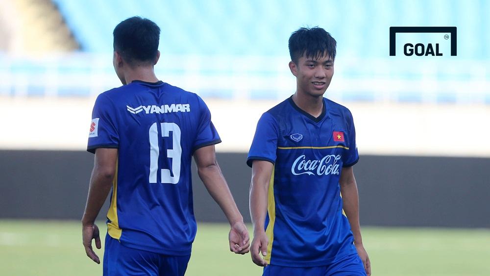 Olympic Việt Nam tập luyện chiều 1/8 tại Mỹ Đình