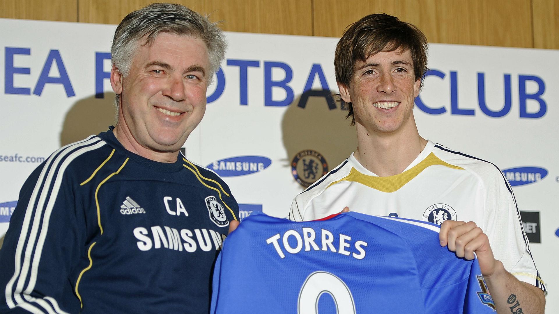 Carlo Ancelotti Fernando Torres 2011 Chelsea