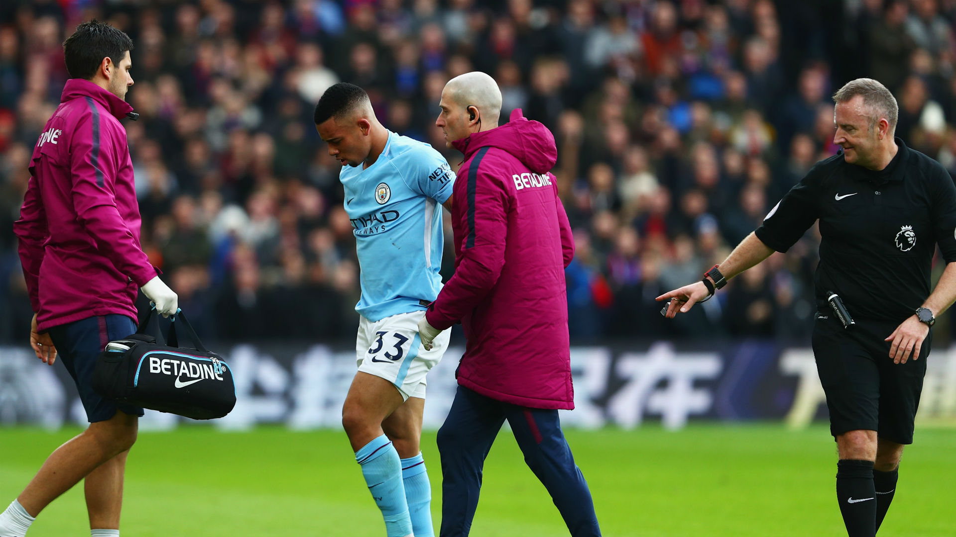 Image result for gabriel jesus palace injury