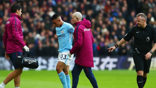 Gabriel Jesus suffered MCL injury during draw with Crystal Palace