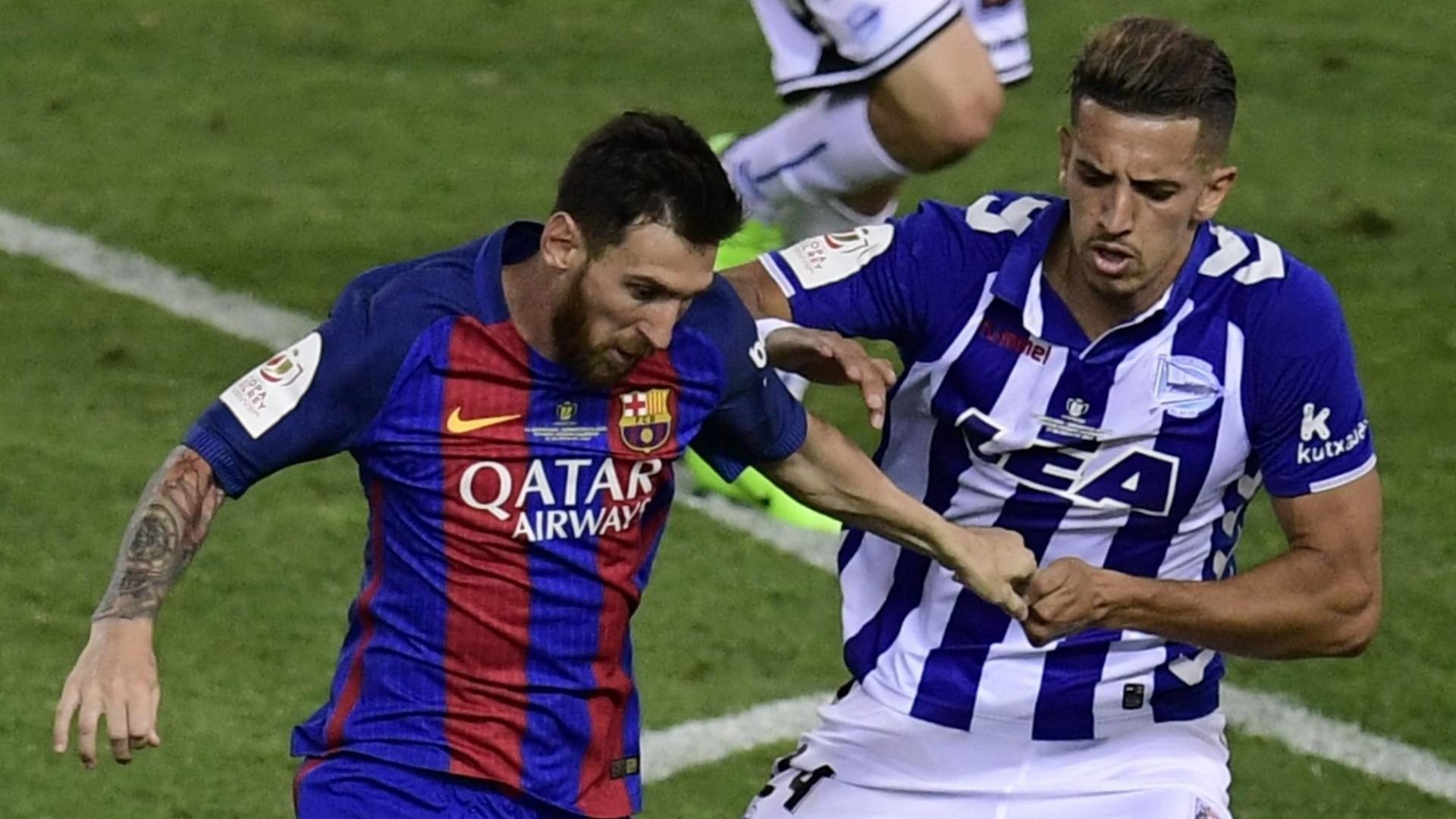 Lionel MEssi Zouhair Feddal Barcelona Alaves Copa del Rey 27052017