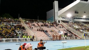 Empty away stands after JDT fans were denied entry 01042017