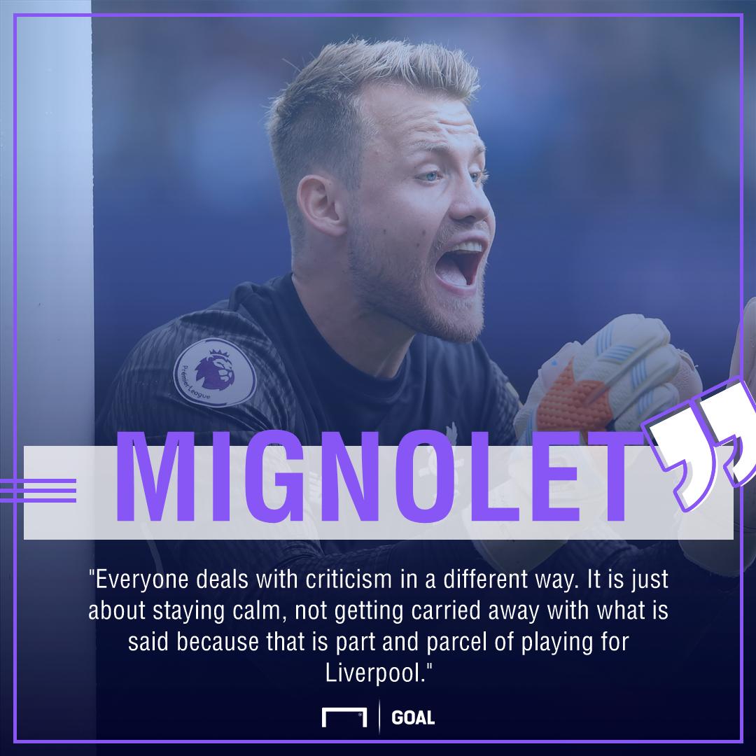Simon Mignolet Liverpool criticism