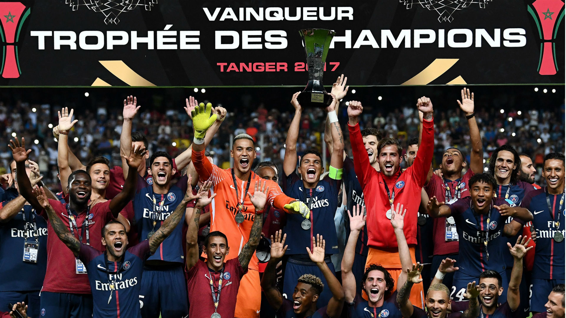 PSG win 2017 French Trophee des Champions in Tangiers