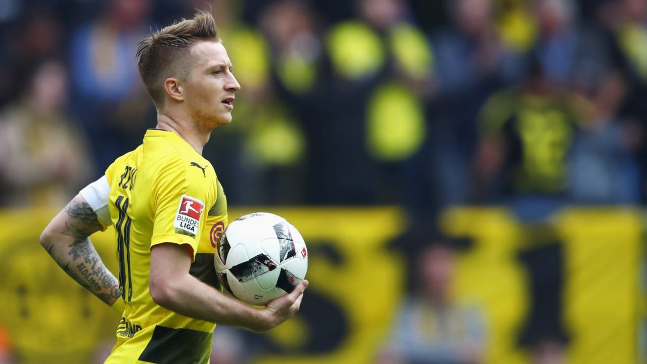 Marco Reus in azione con la maglia del Borussia