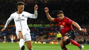 Alexis Sanchez Thilo Kehrer PSG Manchester United Champions League