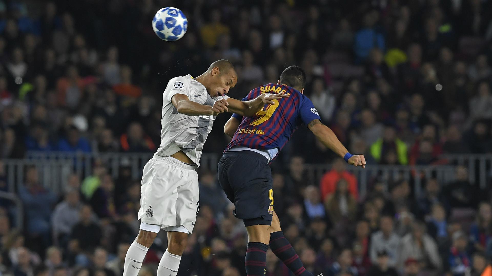 Joao Miranda Luis Suarez Barcellona Inter Champions League