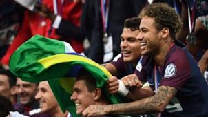 Neymar Thiago Silva PSG champions Coupe de France 08052018