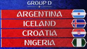 WM Spielplan Gruppe D Argentinien Nigeria Kroatien Island