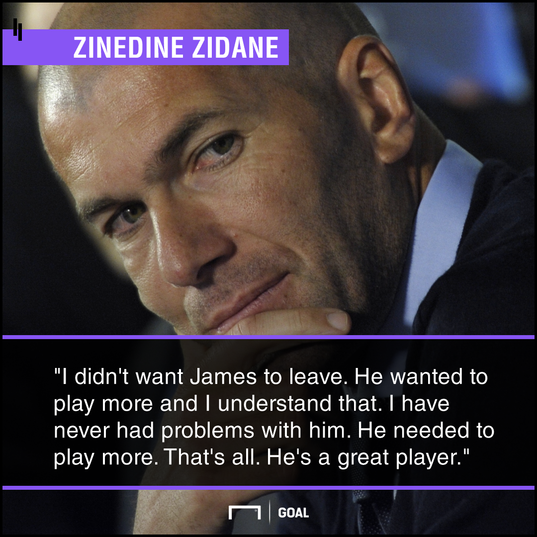 Zidane quote on James