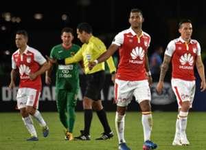 Carlos Henao Santa Fe RAmpla Juniors Cpopa Sudamericana 2018