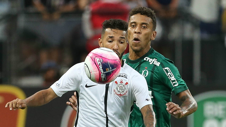 Clayson e Marcos Rocha - Corinthians x Palmeiras - 24/02/2018