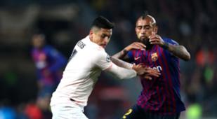 160419 Barcelona Manchester United Alexis Sánchez Arturo Vidal