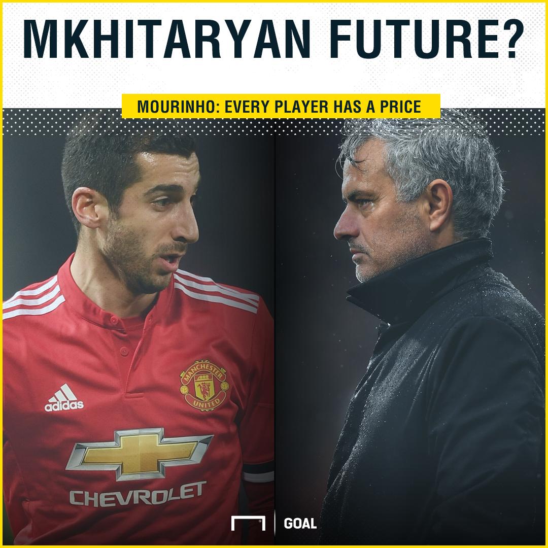 Mourinho responds to Mkhitaryan Arsenal links as Man Utd bench star