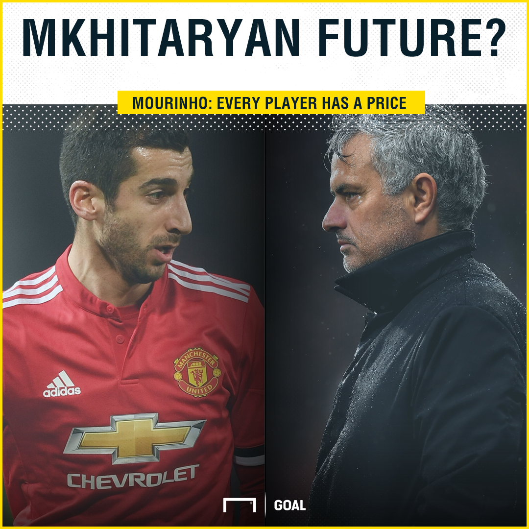 Henrikh Mkhitaryan Jose Mourinho every player has a price