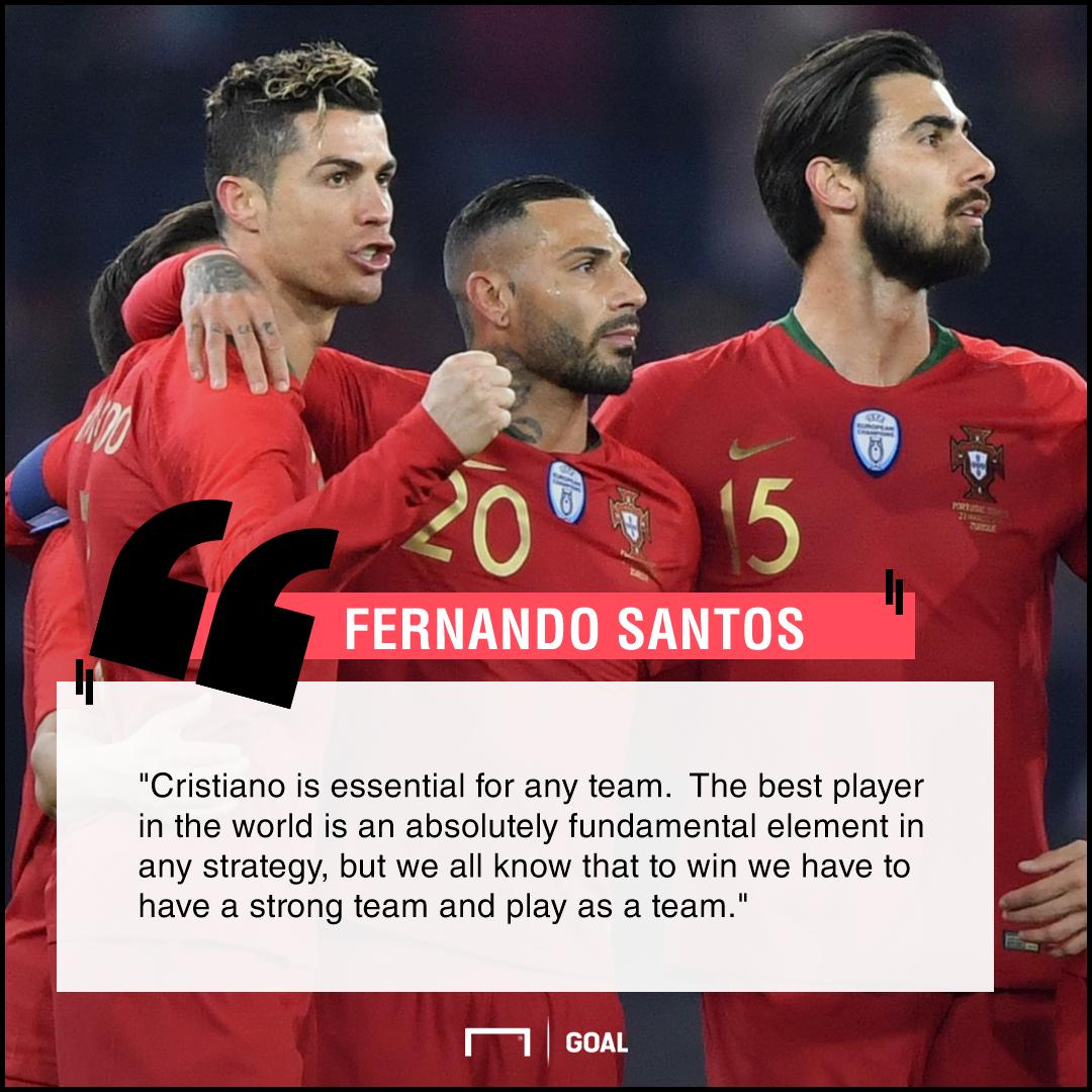 Cristiano Ronaldo essential best in the world Fernando Santos Portugal