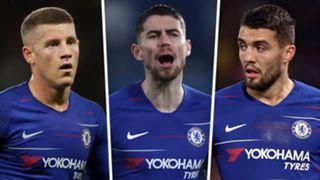 Ross Barkley Jorginho Mateo Kovacic Chelsea 2018-19
