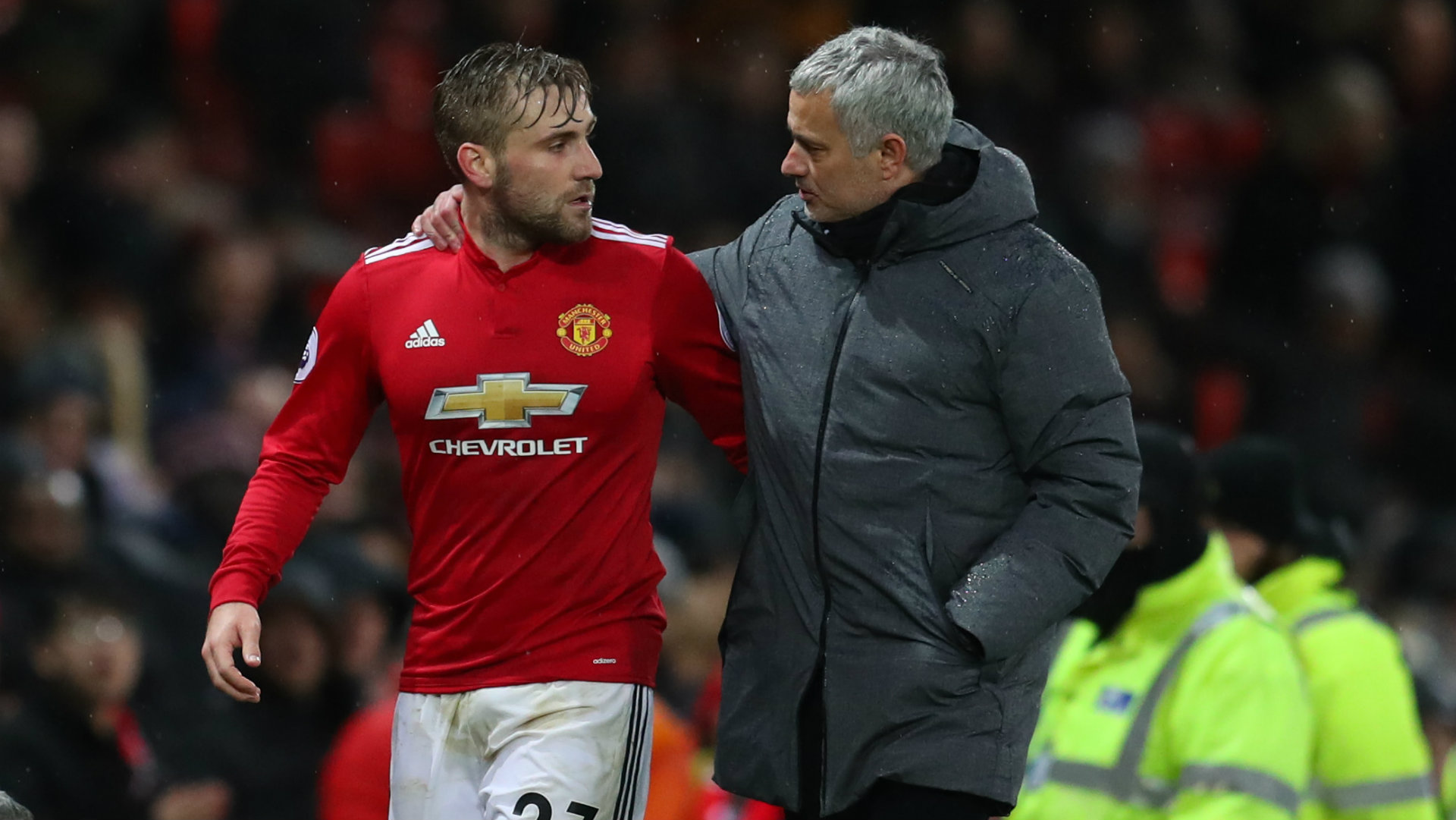 Luke Shaw, Jose Mourinho, Manchester United, 17/18