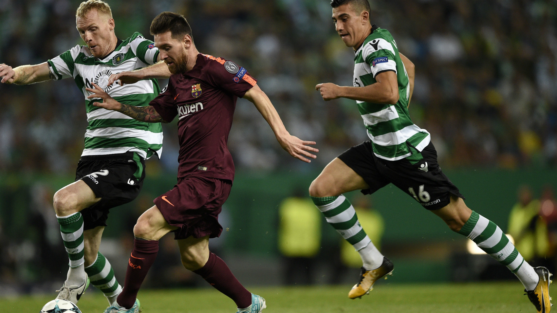 Con muy poco de Messi, Barcelona venció a Sporting de Lisboa