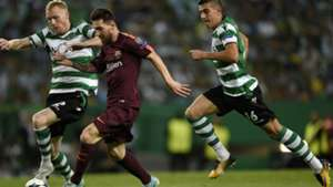 Messi Mathieu Sporting CP Barcelona Champions League