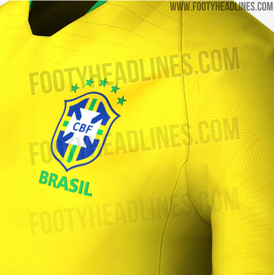 Seleção Brasileira Brasil Camisa Copa do Mundo 2018