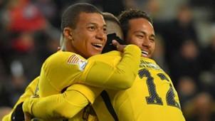 Thomas Meunier Neymar Kylian Mbappe Rennes PSG Coupe de la Ligue 30012018