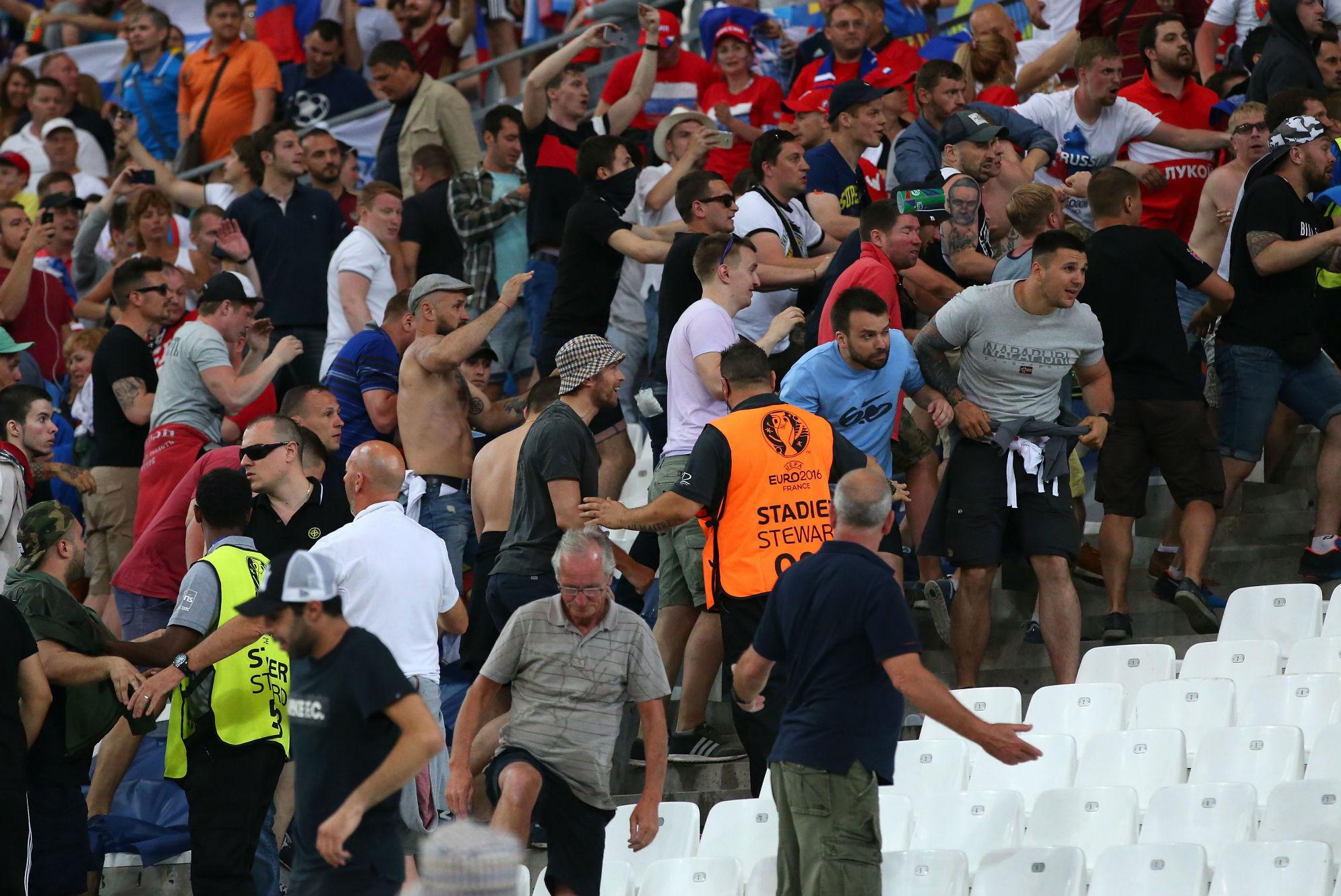 Russia hooligans Euro 2016