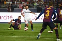 jesus navas jordi alba gerard pique barcelona sevilla supercopa españa 2018 tanger