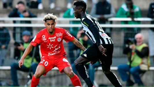 Montpellier winger Keagan Dolly against Angers