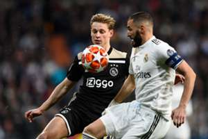 De Jong Benzema Real Madrid Ajax Champions League