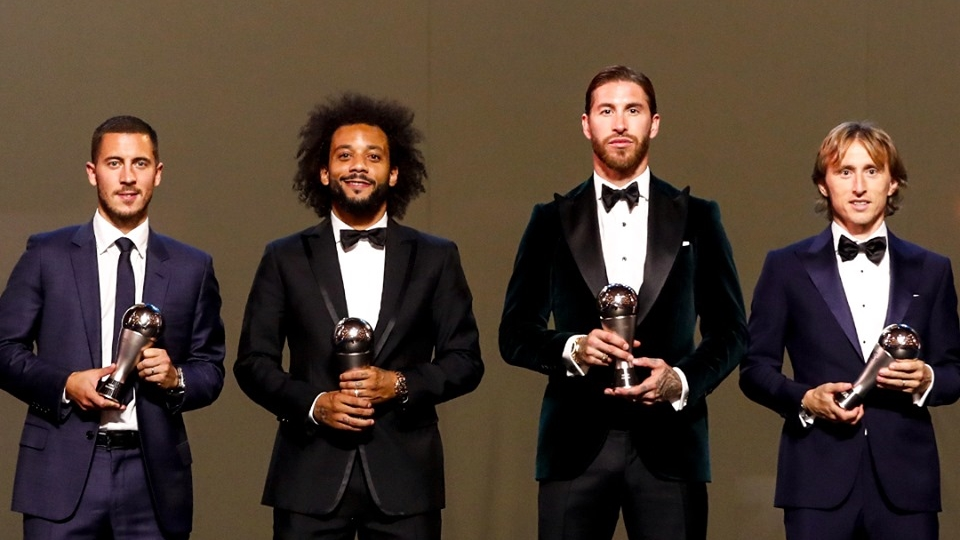 Eden Hazard Sergio Ramos Marcelo Luka Modric Real Madrid The Best 2019