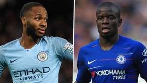 Raheem Sterling N'Golo Kante Man City Chelsea 2018