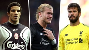 David James, Loris Karius, Alisson Becker, Liverpool