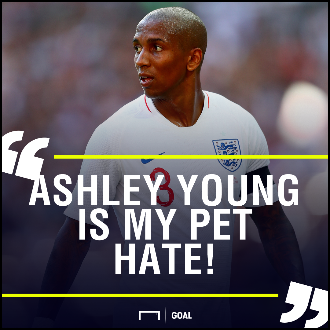 Ashley Young pet hate England Terry Butcher
